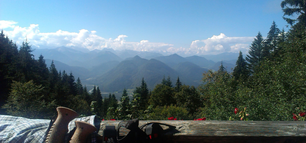 Aussicht ins Karwendel